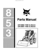 BOBCAT 853 PARTS MANUAL REPRINTED COMB BOUND