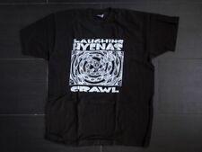 laughing hyenas crawl t shirt  black size XL