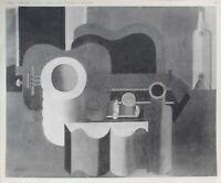 Der Corbusier: Kubismus, Stillleben Mit Gitarre - Gravur Unterzeichnet - 1938