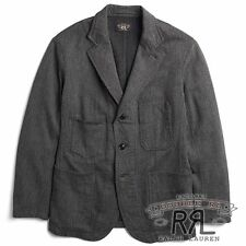 $590 RRL Ralph Lauren 1920s Wool Cotton Jaspé Sport Coat Jacket-MEN- XXL