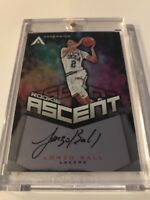 LONZO BALL 2017-18 PANINI ASCENSION ASCENT ROOKIE ON CARD AUTOGRAPH AUTO /299
