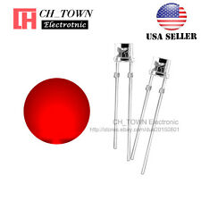 100pcs 3mm Flat Top Water Clear Red Light Wide Angle 120deg Led Diodes Usa