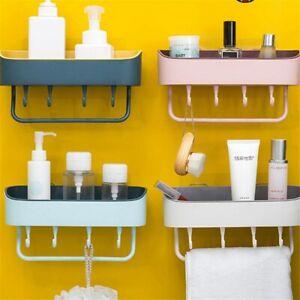 Bathroom Corner Tidy Wall Caddy Rack Suction Shelf Storage Basket Shower