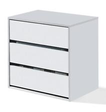 Anita 3 Drawer Wardrobe Internal White Chest of Drawers Bedroom Storage