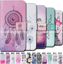 Card Pouch Pattern Case Magnetic Painted PU Leather Wallet Cover For Smartphone