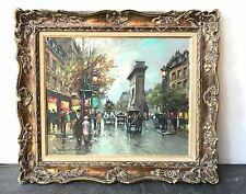 "Antoine Blanchard French 18"" By 22"" Oil On Canvas Painting With Certificate"