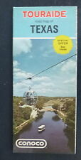 1971 Texas   road  map Conoco   oil gas Six Flags ad