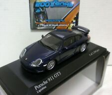 PORSCHE 911 GT3 996 1999 BLUE AZUL MET 1/43 MINICHAMPS