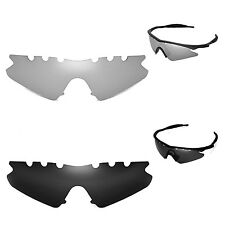 New WL Polarized Titanium+Black Vented Replacement Lenses 4 Oakley M Frame Sweep