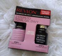 Revlon 2 Steps Gel Envy Colorstay Longwear Nail Polish #735 LUCKY IN LOVE PINK