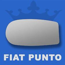 Fiat Punto wing door mirror glass 1999-2009 Left Passenger side Flat