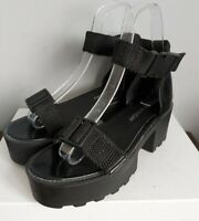 Ladies Chunky Black Sandals Size UK 7.5 EU 41 CHEAP MONDAY