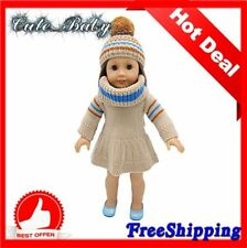 """*CHEAPEST PRICE*Knitting Doll Clothes for 18"""" American Dress Girl Dolls 3pcs Set"""