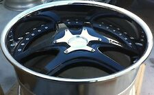 LOWENHART LSR 3pc 20 X 11 ET 33 5:112 Black / Chrome Lip Made In Japan One Wheel
