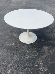Original Mid Century Vtg Modern Space Age Burke Tulip Dining Table Saarinen Era