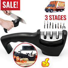 3 Stages Knife Sharpener Kitchen Knives Blade Sharpening Tool Handheld System
