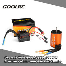 GoolRC Upgrade Waterproof 3650 4300KV Brushless Motor w/60A ESC Combo Set T5T1