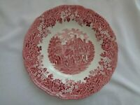 Transferware Made In England Meakin Merrie England Rimmed Soup Bowl