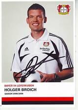 FOOTBALL carte joueur HOLGER BROICH équipe BAYER LEVERKURSEN signée