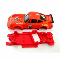 Chasis Porsche 911 AW compatible Scalextric Mustang Slot carroceria no incluida