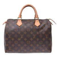 LOUIS VUITTON Monogram Speedy 30 Brown M41526 Hand Bag 800000083271000