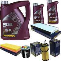 Ölwechsel Set 7L MANNOL Diesel TDI 5W-30 API Motoröl + SCT Filter KIT 10198462