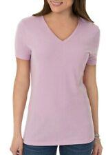 Time & TRU Tee Shirt-Womens M (8/10) Short Sleeve V Neck, Soft lavender T Shirt
