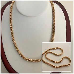 Vintage Jewellery Stunning MONET Gold Plated Chunky Necklace