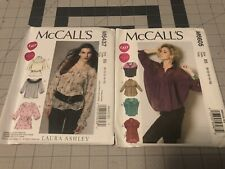 Set of 2 McCall's Easy Patterns Tops 8-16