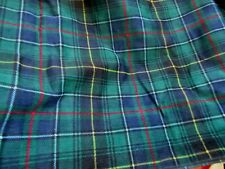 "Material/Fabric 3.75 yds x 42"" Blue-Green Plaid Fine Wale Corduroy"
