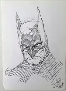Batman Headshot! Original Pencil Art Sketch by Jim Balent.