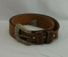 Vintage Leegin Leather Belt Metal Buckle Western