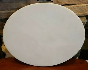 Handcrafted Orchidware Cutting Board White Oval Platter Santa Monica CA