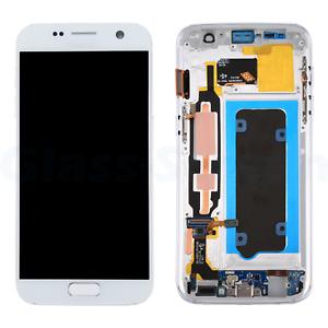 Samsung Galaxy S7 G930V LCD Screen Digitizer Frame Soft AMOLED High Quality