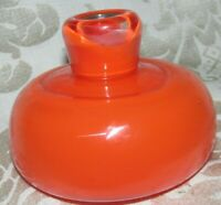 Australian GERIE HERMANS SIGNED ART GLASS ORANGE BOTTLE POT