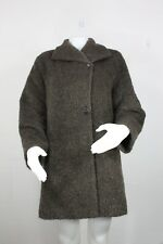 Cinzia Rocca wool alpaca mohair jacket coat 8 mint shaggy teddy-bear brown