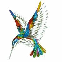 Colourful Wall Art Metal Hummingbird - Stunning Bird Plaque - Indoor / Outdoor