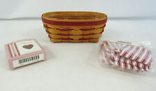 Longaberger 1994 Sweetheart Be Mine Basket With Liner, Protector & Tie-On