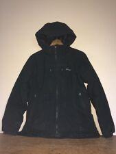 Patagonia Women Black Jacket Coat Ski Winter Sun Hood Vintage Sz Med Hip Length