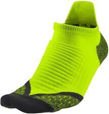 NIKE Elite Running No-Show Socks Size 6 Volt Men's sz (14-16)