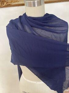 Chiffon Fabric Navy Blue  Textile Clothing one Yard NEW