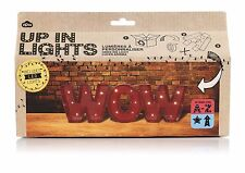 NPW Up In Lights Personalised Cardboard Letters Kit INCLUDES LED Lights