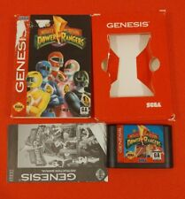 SEGA GENESIS POWER RANGERS 1994 COMPLETE W/CART BOX & BOOK