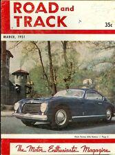 1951 Road & Track Magazine: Pinin Farina Alfa Romeo
