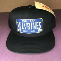Michigan Wolverines ANNCO Vintage 90's Snapback Cap Hat with Tag Blue Great Lake