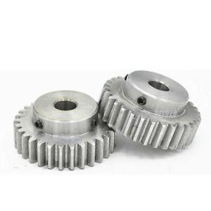 Stirnrad 1,5 Modul Zahnrad,12Zähne - 150 Zähne mit Nabe Stahl C45 Antriebsritzel