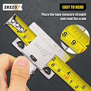 Zezzo Measuring Tape Aid Clip for Precision Corners Clamp Holder Measuring Tool