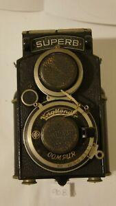 Voigtlander Superb Antique TLR Twin Lens Box Camera Helomar & Heliar Lenses