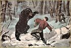 Currier & Ives | The Life of A Hunter A Tight Fix  Art Print