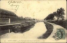 Schiffe 1907 Carte P. Frankreich Maritime SAINT-OMER Canal Kanal Schiff Frachter